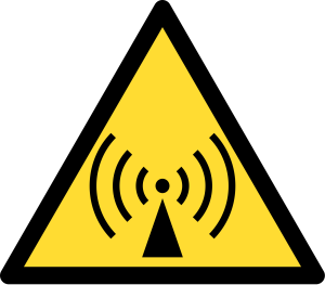 Yellow RF hazard symbol